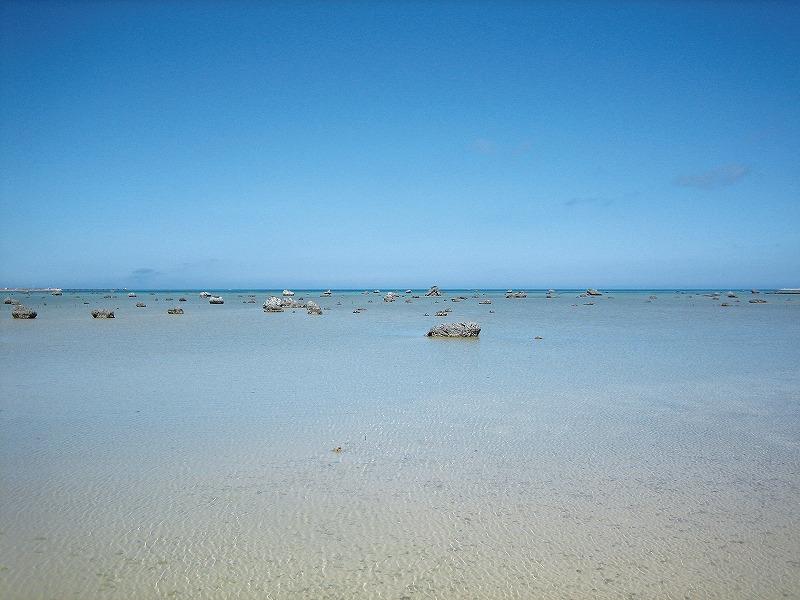 佐和田の浜珊瑚礁・礁湖面