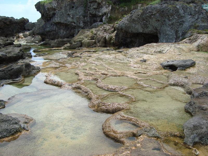 宮古島保良の石灰華段丘