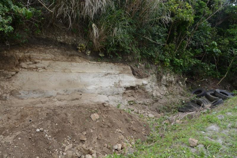 佐事川嶺凝灰岩層及び佐事川の陣地壕